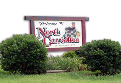 Welcome to North Carrollton sign